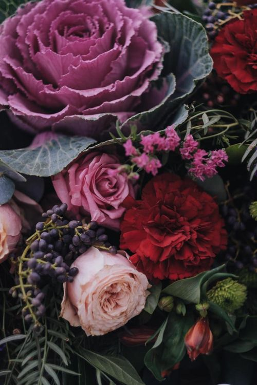 Opulent Flowers For Wedding With Polaroid Guest Book