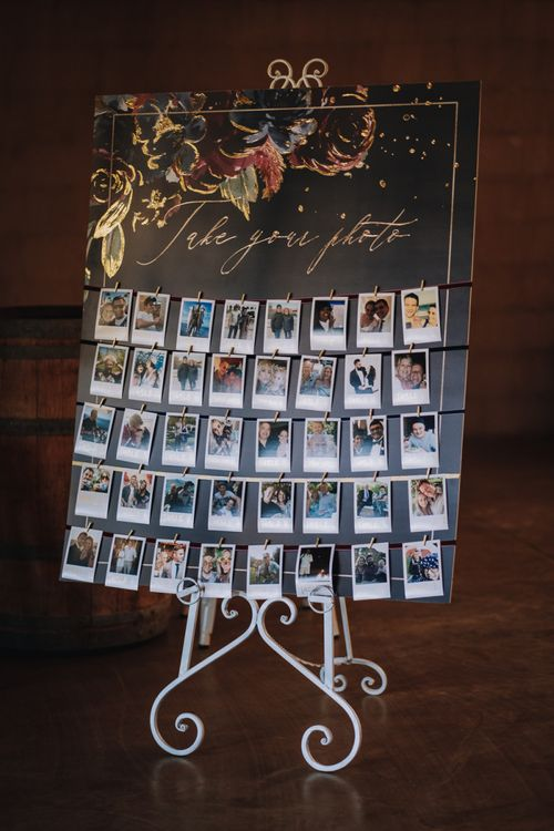 Polaroid Guest Book And Table Plan/Favours For Guests