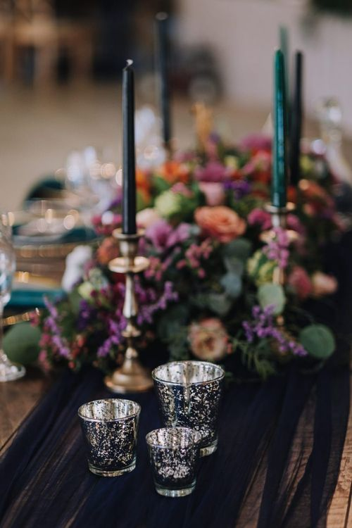 Wedding Decor With Bright Flowers and Polaroid Guest Book