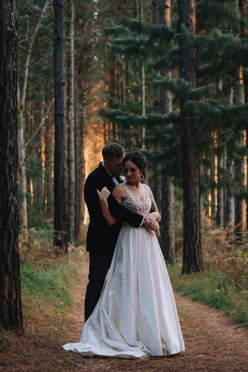 Bride Wears Elbeth Gillis Bride Dress For DIY Wedding With Polaroid Guestbook