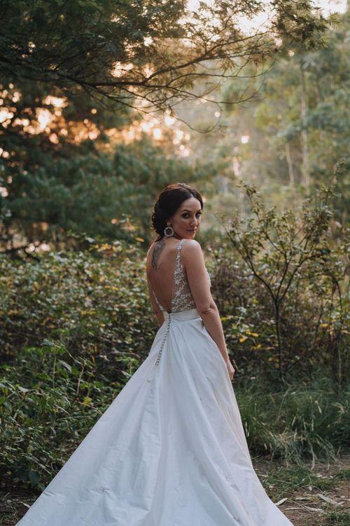 Elbeth Gillis Low Back A-Line Wedding Dress