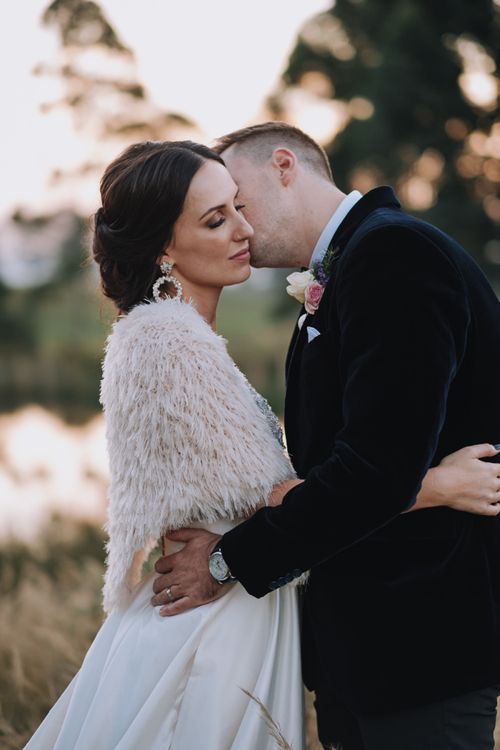 Faux Fur Bridal Cover-up For South African Wedding