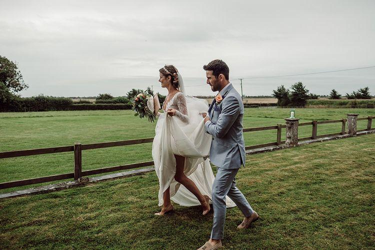 Glamorous Wedding With Bridesmaids In Needle & Thread