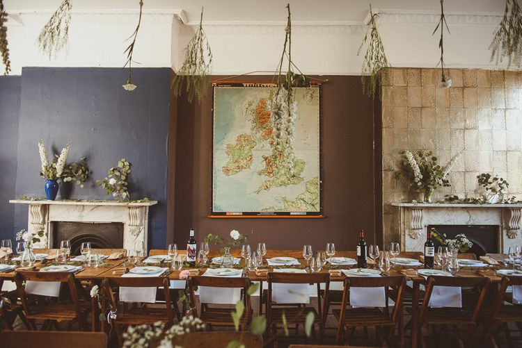 Botanical Reception Decor at Old Victorian Pub, The Roost in Dalston