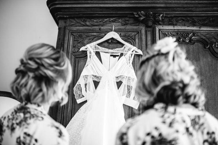Racerback Alexander Wang Wedding Dress | Colourful Pennard House Wedding With Bride Wearing Alexander Wang Dress | Allison Dewey Photography