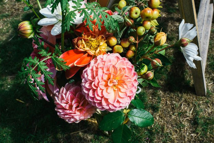 Bright Florals | Colourful Pennard House Wedding With Bride Wearing Alexander Wang Dress | Allison Dewey Photography