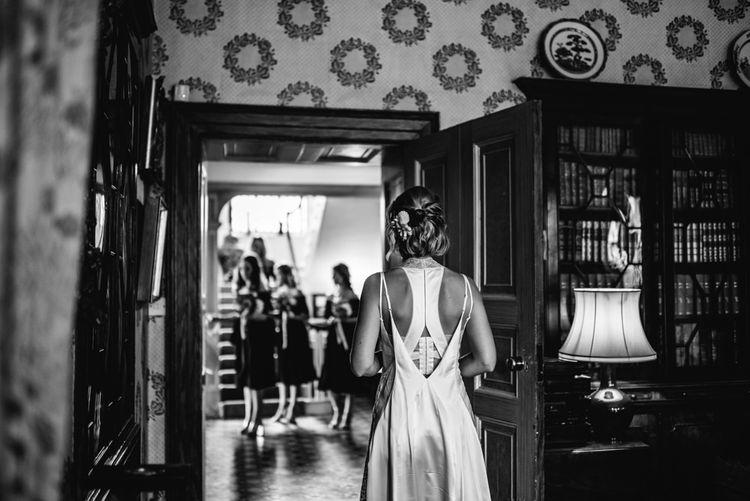 Wedding Morning Preparations | Bride in Racerback Alexander Wang Wedding Dress | Bridesmaids in ASOS Dresses | Colourful Pennard House Wedding With Bride Wearing Racerback Alexander Wang Dress | Allison Dewey Photography