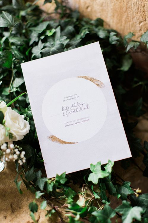 Ivory, Gold and Grey Wedding Invitation