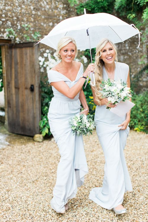 Bridesmaids in Grey TFNC Dresses