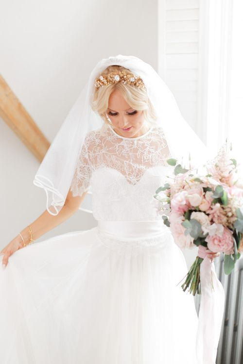Bridal preparations at Didsbury House Hotel wedding
