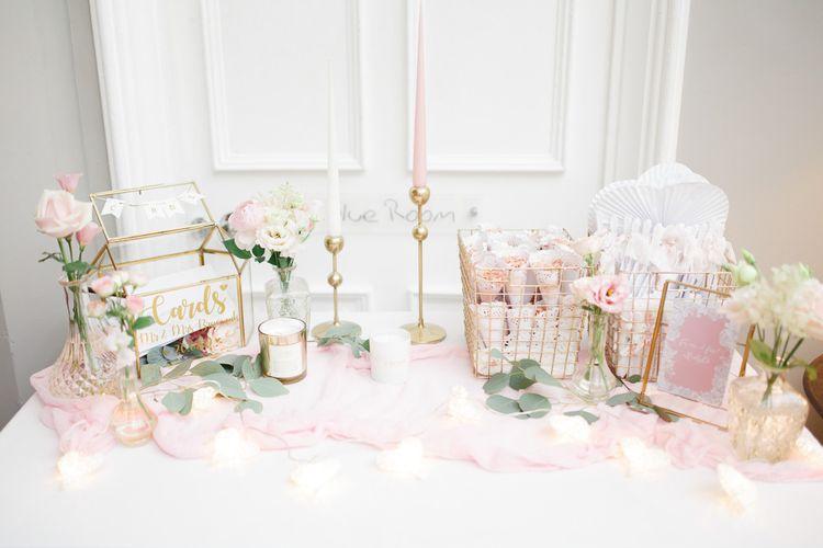 Wedding card table at Didsbury House Hotel wedding