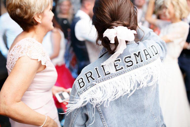Personalised bridesmaid jacket