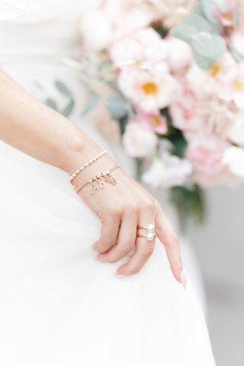 Bridal jewellery at Didsbury House Hotel wedding