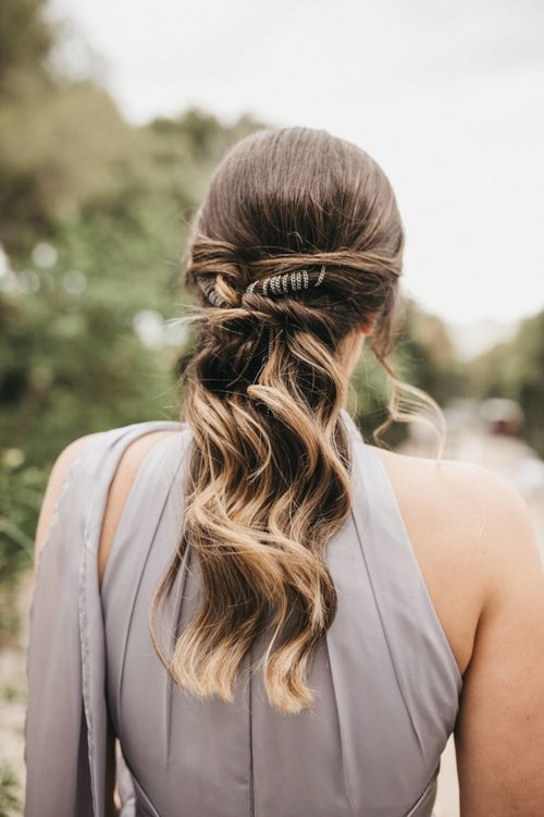 Bridesmaid Half Up Half Down Hairstyle