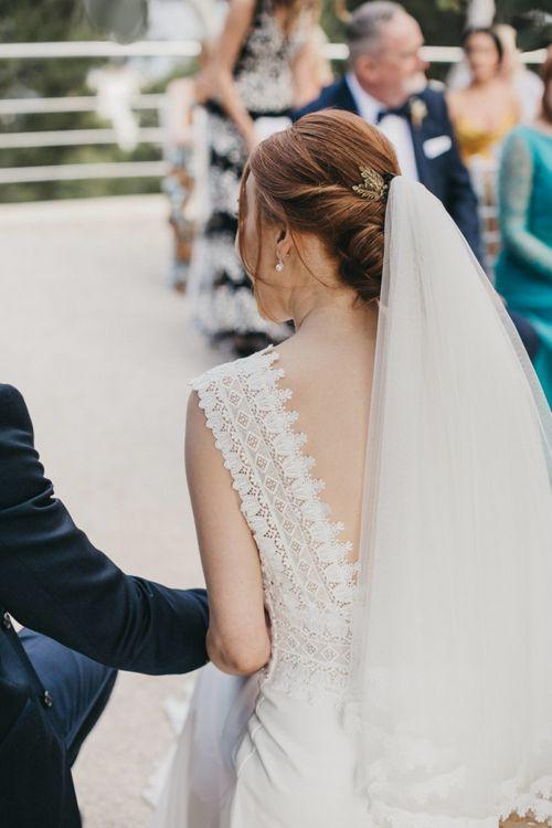 Lace Detail on Pronovias Wedding Dress