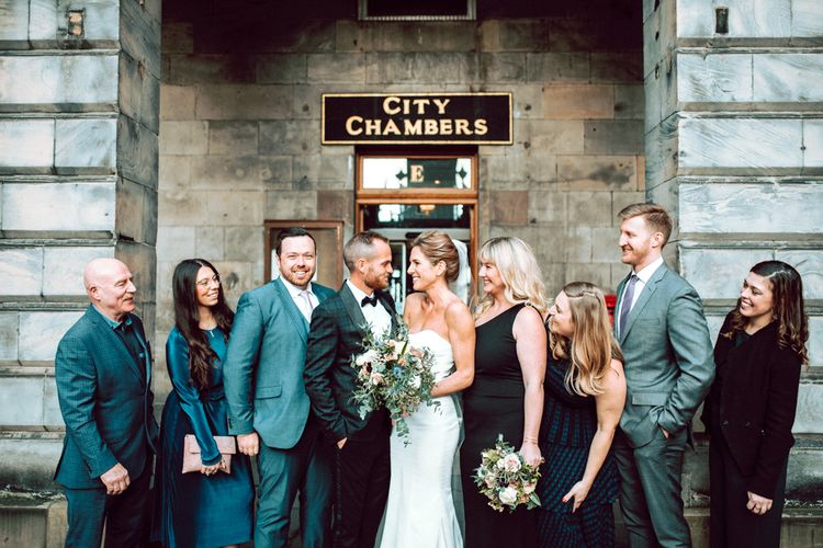 Intimate Edinburgh elopement with a handful of wedding guests