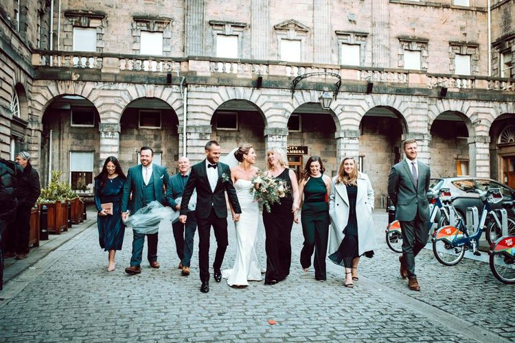 Nine weddings guests at stylish Edinburgh elopement