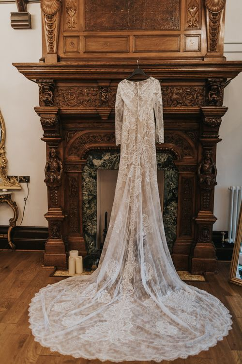 Stunning Dress Detail | Tyn Dwr Hall, North Wales | Justin Alexander Gown from Brides by Tina Louise | Photography by Livi Edwards.
