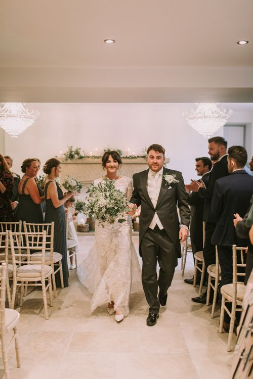 The Ceremony | Tyn Dwr Hall, North Wales | Justin Alexander Gown from Brides by Tina Louise | Photography by Livi Edwards.