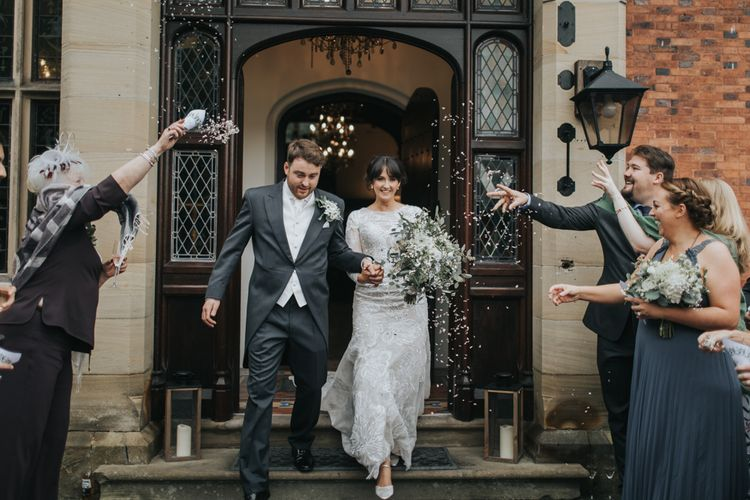 Married | Confetti | Tyn Dwr Hall, North Wales | Justin Alexander Gown from Brides by Tina Louise | Photography by Livi Edwards.