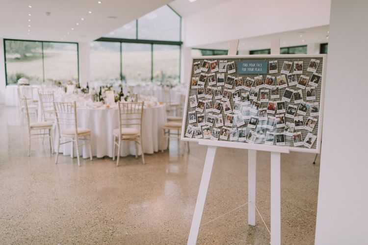 Polaroid Table Plan | Tyn Dwr Hall, North Wales | Justin Alexander Gown from Brides by Tina Louise | Photography by Livi Edwards.