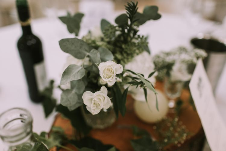 Table Decor | Flowers and Glass | Tyn Dwr Hall, North Wales | Justin Alexander Gown from Brides by Tina Louise | Photography by Livi Edwards.