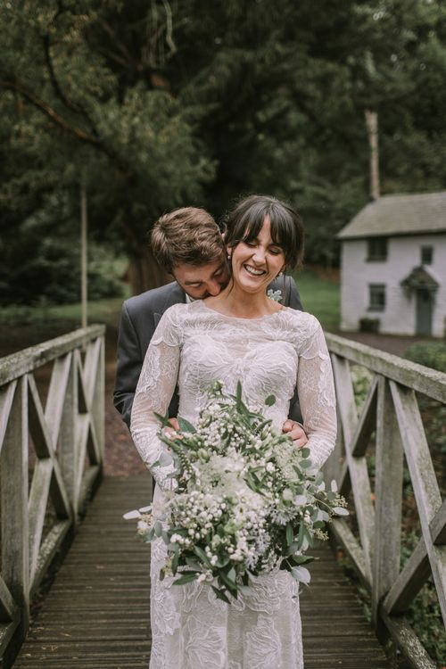 The Bride and Groom | Tyn Dwr Hall, North Wales | Justin Alexander Gown from Brides by Tina Louise | Photography by Livi Edwards.