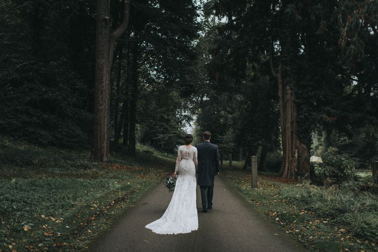 Bride & Groom | Tyn Dwr Hall, North Wales | Justin Alexander Gown from Brides by Tina Louise | Photography by Livi Edwards.