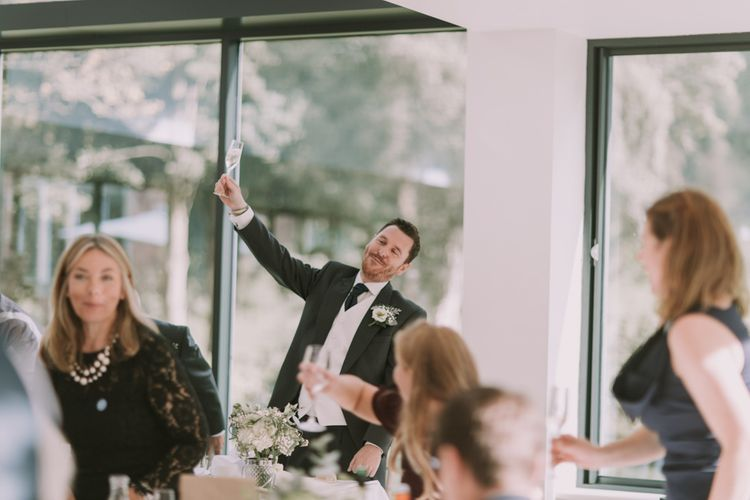Speeches | Reception | Tyn Dwr Hall, North Wales | Justin Alexander Gown from Brides by Tina Louise | Photography by Livi Edwards.