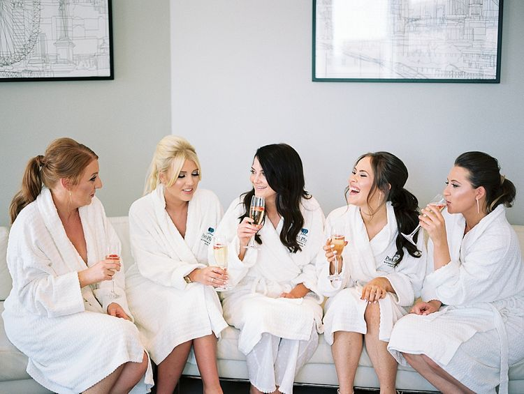 Wedding Morning Bridal Party Preparations | Elegant White, Green & Gold Wedding with Succulent & Foliage Decor at ICA in London City | Kylee Yee Fine Art Photography