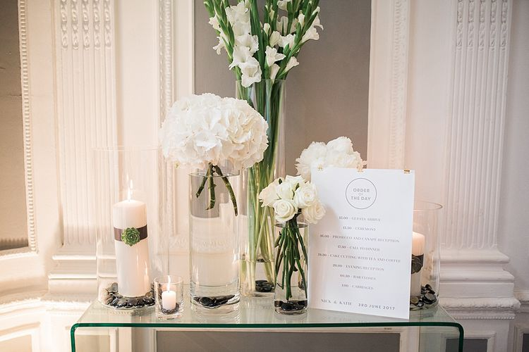 White Wedding Flowers | Wedding Decor | Elegant White, Green & Gold Wedding with Succulent & Foliage Decor at ICA in London City | Kylee Yee Fine Art Photography