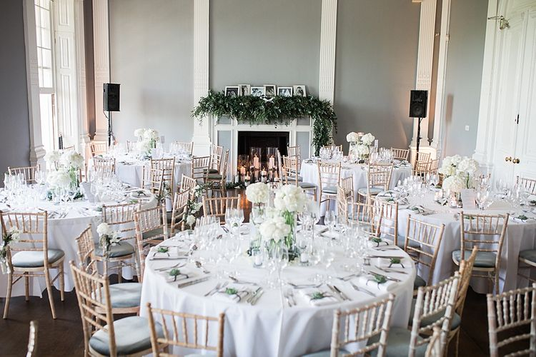 Super Luxe Wedding Reception | Elegant White, Green & Gold Wedding with Succulent & Foliage Decor at ICA in London City | Kylee Yee Fine Art Photography