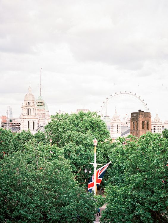 London Skyline | Elegant White, Green & Gold Wedding with Succulent & Foliage Decor at ICA in London City | Kylee Yee Fine Art Photography