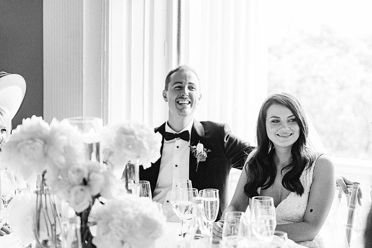 Wedding Reception Speeches | Elegant White, Green & Gold Wedding with Succulent & Foliage Decor at ICA in London City | Kylee Yee Fine Art Photography