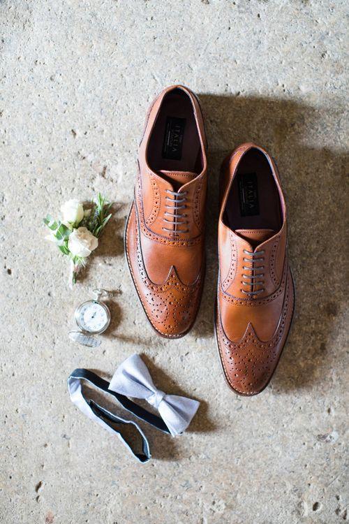 Brown Brogue Grooms Shoes