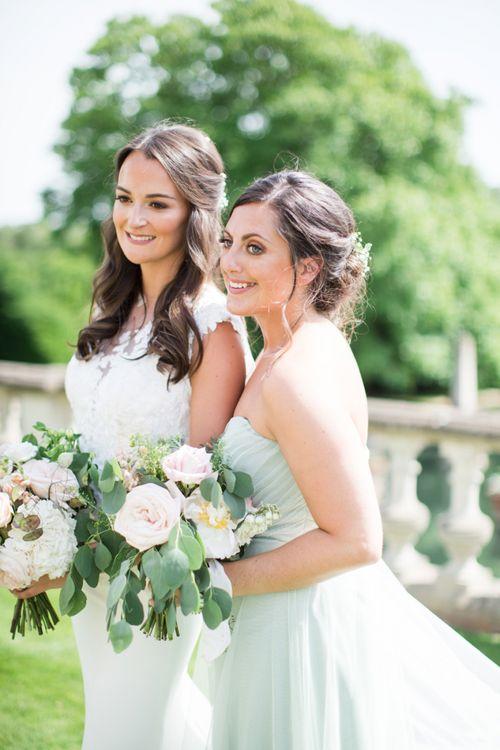 Bride and Bridesmaid Wedding Portrait