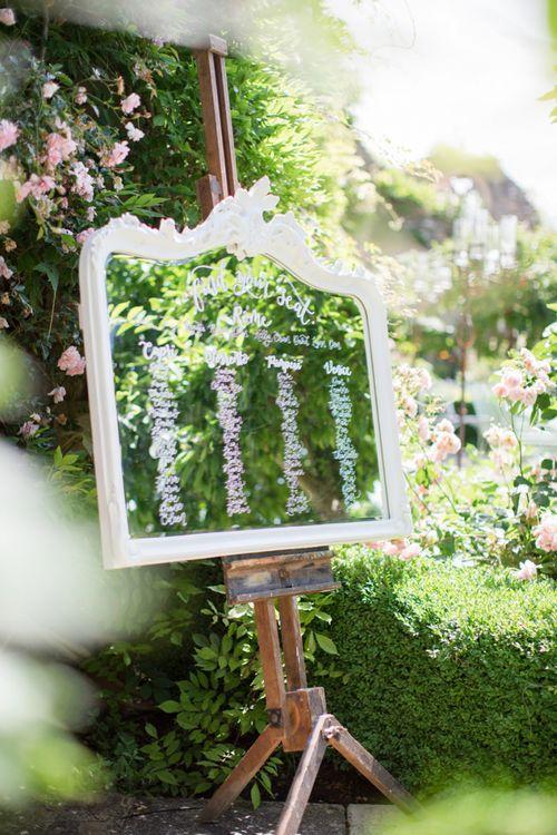 White Ornate Mirror Table Plan