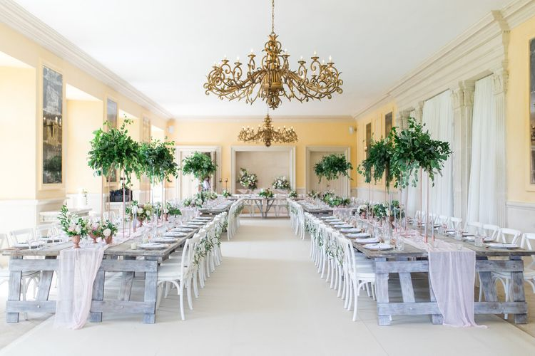 Elegant Wedding Reception Decor at The Lost Orangery
