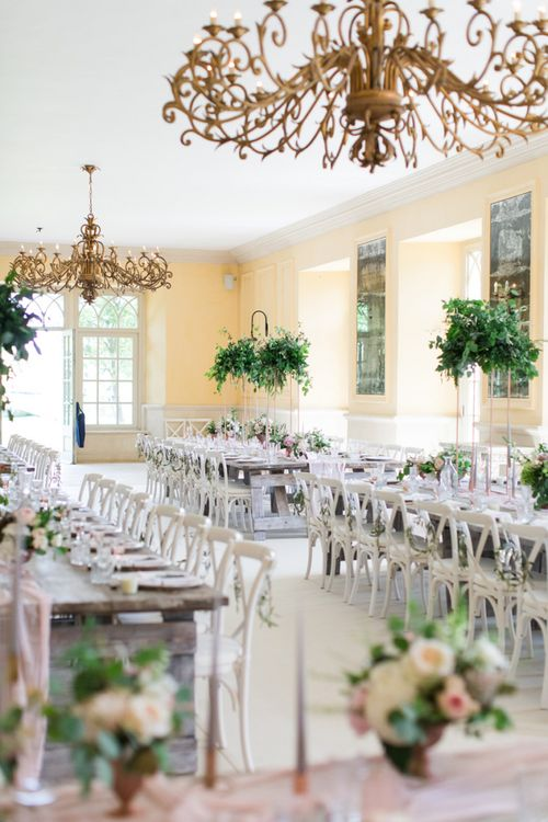 The Lost Orangery Wedding Reception Decor