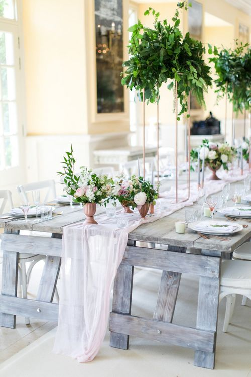 Romantic Botanical Wedding Reception Decor