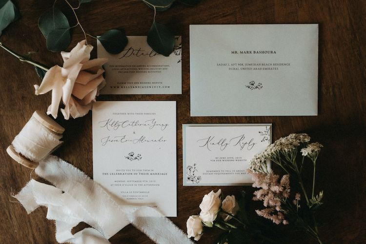 Wedding stationery for destination wedding in Italy