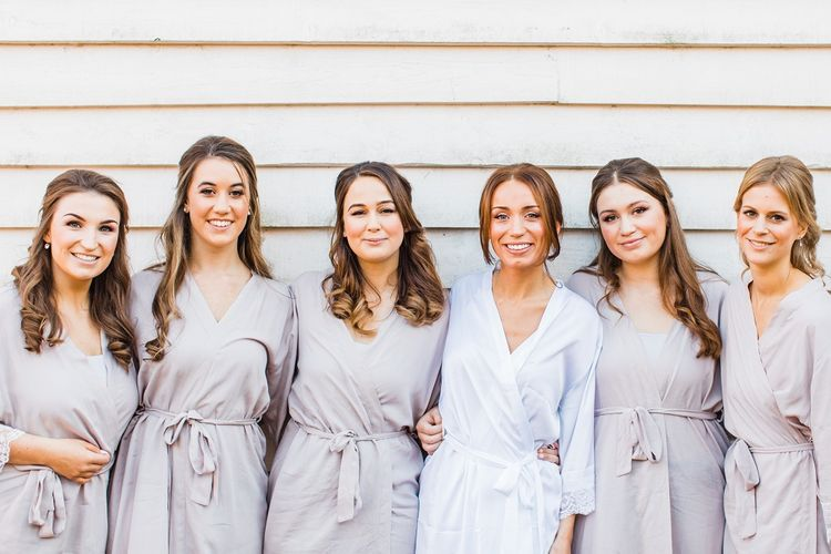 Bride and Bridesmaids in Getting Ready Robes