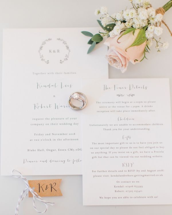 Wedding Stationery by Pear Paper Co