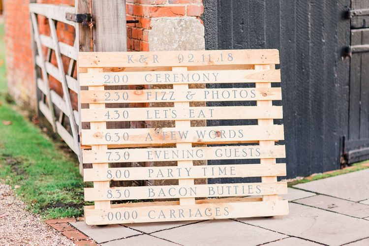 Wooden Pallet Order of the Day Sign