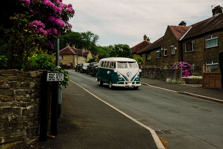VW Camper Van Wedding Transport | DIY Tipi Wedding in Yorkshire | Tim Dunk Photography