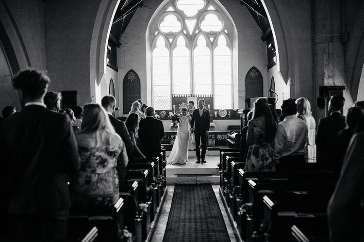 Church Wedding Ceremony | Bride Made Her Own Bespoke Gown - Kindling Bridal | Groom in Wool Beggars Run Suit | DIY Tipi Wedding in Yorkshire | Tim Dunk Photography