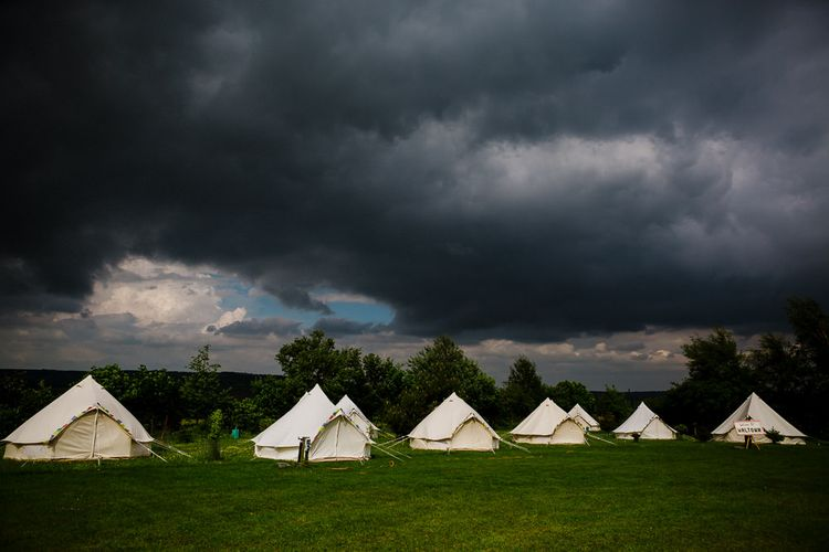 Bell Tents for Glamping | DIY Tipi Wedding in Yorkshire | Tim Dunk Photography