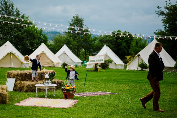 Bell Tents Glamping Field | DIY Tipi Wedding in Yorkshire | Tim Dunk Photography