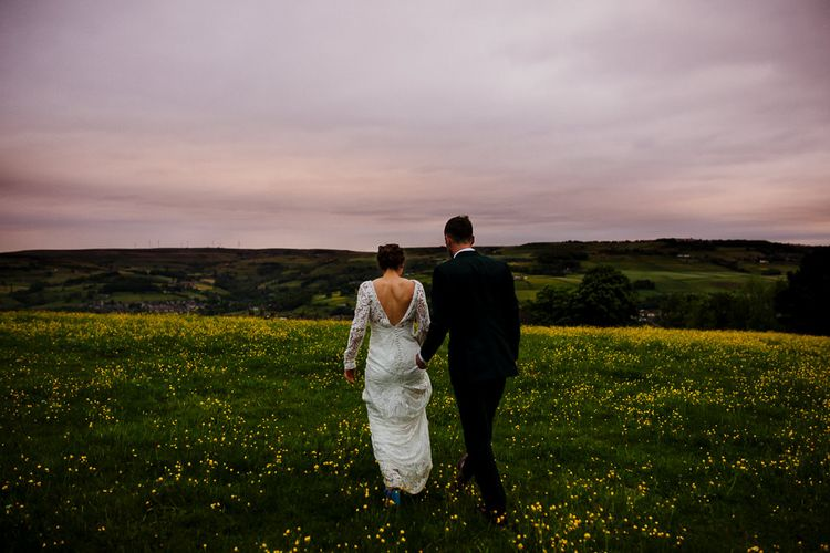 Bride Made Her Own Bespoke Gown - Kindling Bridal | Groom in Wool Beggars Run Suit | DIY Tipi Wedding in Yorkshire | Tim Dunk Photography