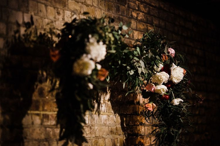 Floral Garland | The Electricians Shed, Trinity Buoy Wharf Wedding Planned by Utterly Wow | Claudia Rose Photography